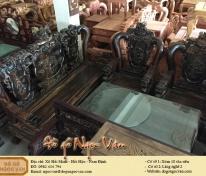 Bộ bàn ghế đỉnh nghê gỗ mun